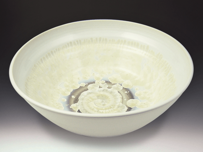 Large Ivory Crystal White Bowl