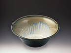 Small Ivory Dark Olive Bowl