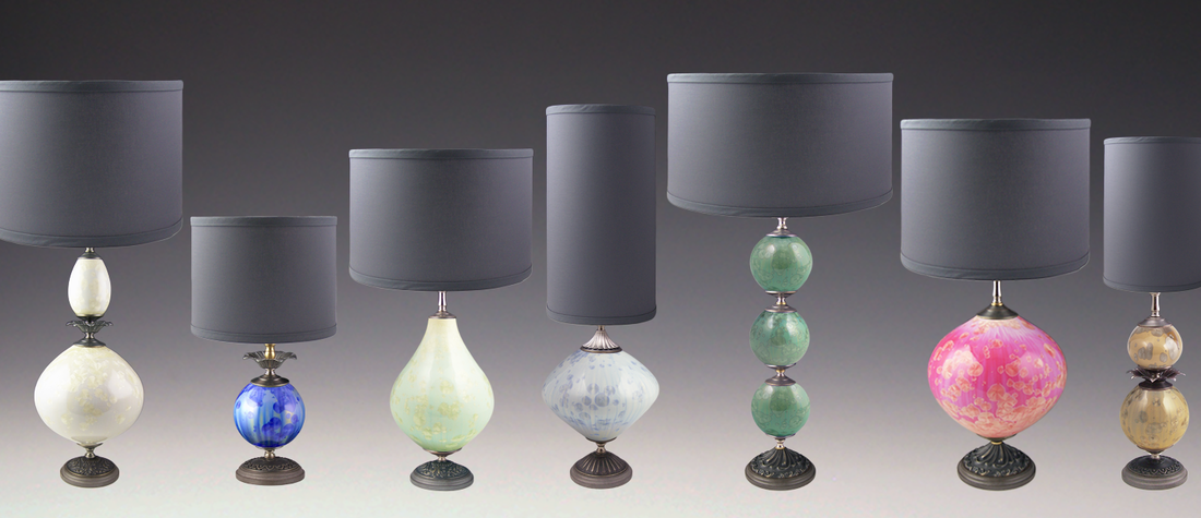 Colorful Crystalline Lamps